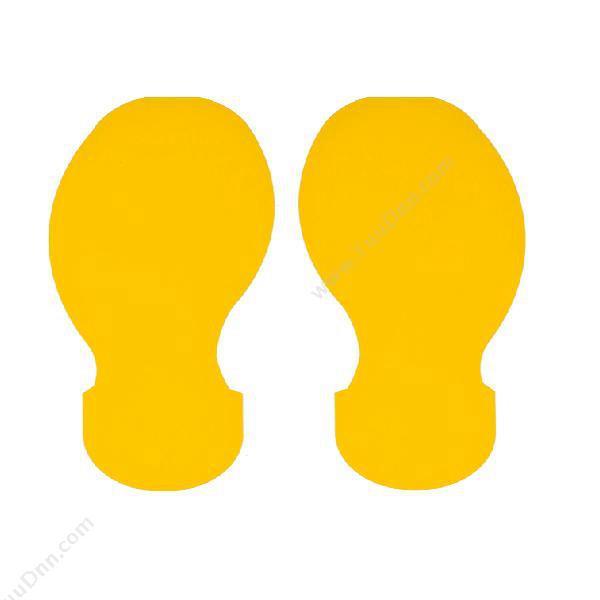 贝迪 Brady 800100 耐碾压胶带脚印(黄) 碳带