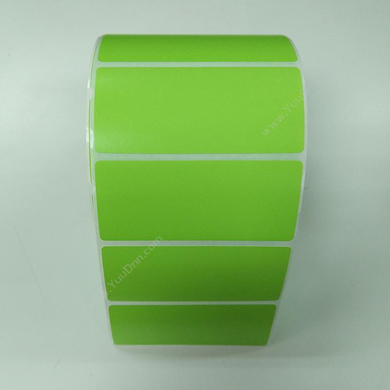 艾利 Avery 80*35mm 热敏合成夹层标签(染一色,1000PCS)(绿) 热敏不干胶标签