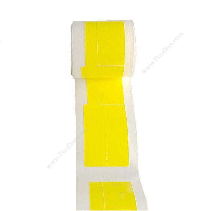 舜普 SPSF01-50Y SP20打印标签 38mm*25mm+40mm (黄) 50片/卷 标签机打印配套耗材线缆标签