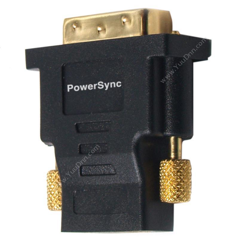 包尔星克  PowersyncDV24HDK  DVI转HDMI 24K金转接头视频线