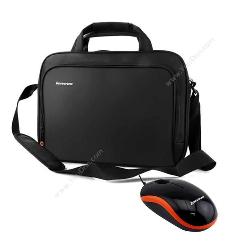联想 LenovoNC100 电脑笔记本包 14英寸笔记本包鼠标套装(黑)笔记本包