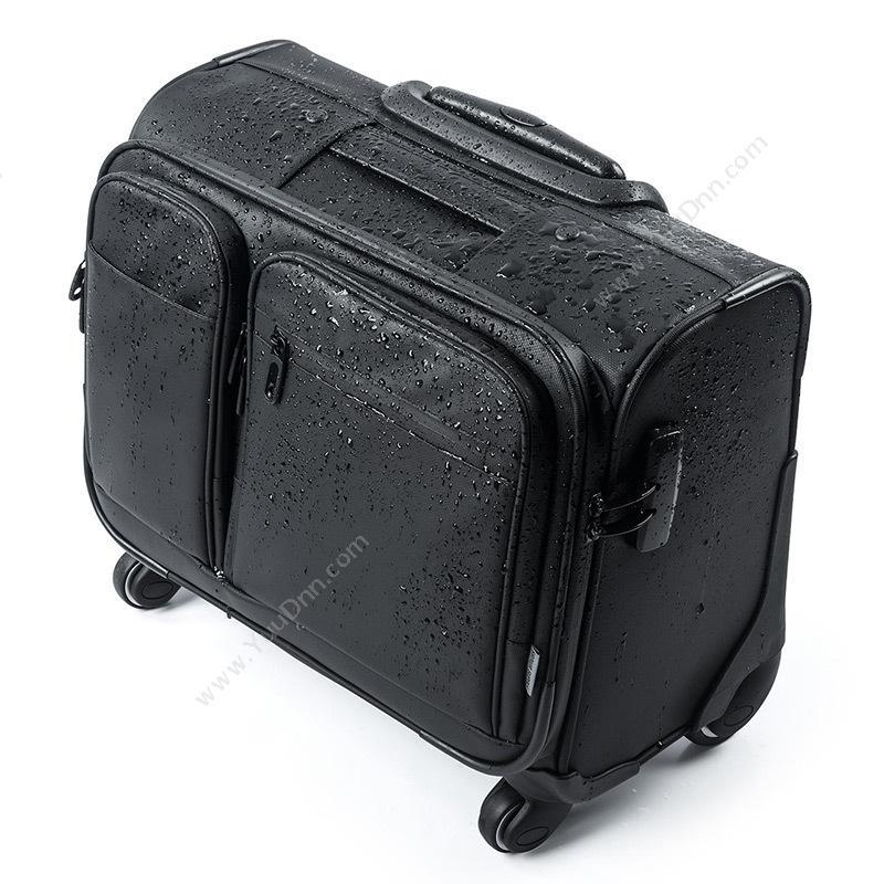 山业 Sanwa200-BAGCR003WP 横放型带拉杆商务旅行包 (黑)笔记本包