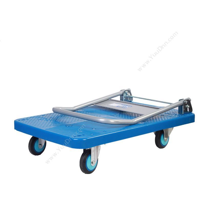 连和 LianHePLA300Y-DX 单层 中静可折叠手推车  天蓝色  承载300KG平板推车
