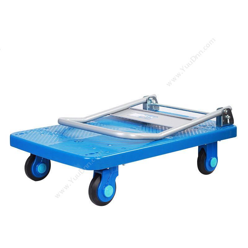 连和 LianHePLA300-DX 单层 超静折叠扶手手推车  蓝色 承载300公斤平板推车