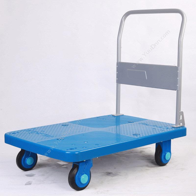 连和 LianHePLA300 单层 超静固定扶手手推车  蓝色 承载300公斤平板推车