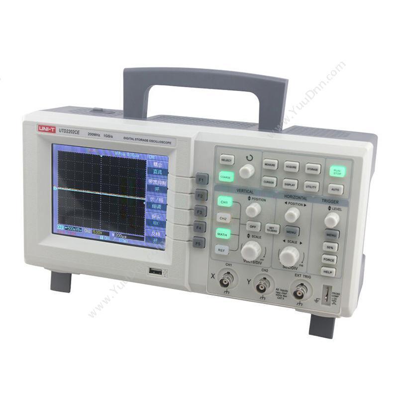优利德UNI-TUTD2202CE 数字储存便携式示波器