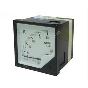 正泰 6L2-A 50/5A 安装式  次级电流:5A 表盘尺寸:80mm 交流电压表