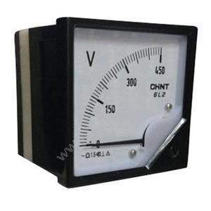 正泰 6L2-V 500V 安装式交流电压表 直接接入 表盘尺寸:80mm 交流电压表
