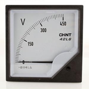 正泰 42L6-V 50V 安装式交流电压表 直接接入 表盘尺寸:120mm 交流电压表