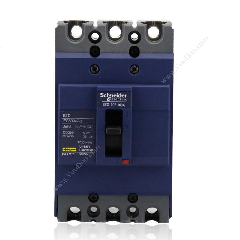 施耐德 SchneiderEZD100E3050N 固定式3极三极塑壳断路器