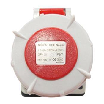 威浦 暗装直式插座 IP67 16A 380V 4P TYP5619 暗装直式插座