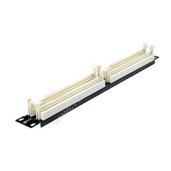 安讯仕 AXS 100对110电话语音配线架网络布线整理器19英寸机架式 光纤配线架