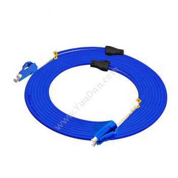 金坤宇LC-LC双芯单模铠装光纤跳线 10米(蓝)单模光纤跳线