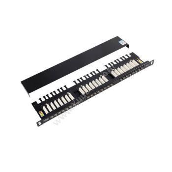英科通超五类屏蔽0.5U配线架带LED灯 YP31524超五类网线