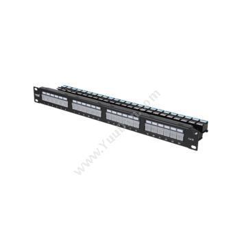 英科通超五类非屏蔽LED灯配线架 卡扣式 YP30124 1U超五类网线