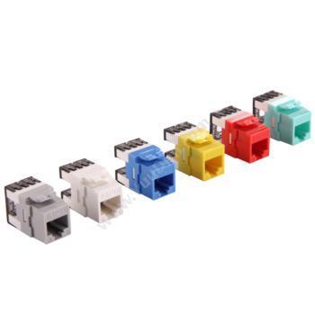 爱谱华顿 AiPu AP-6-03-180 六类180度非屏蔽RJ45模块(黄) 综合布线