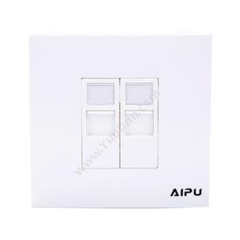 爱谱华顿 AiPu AP-M-04-2S 迅杰双口86面板 综合布线