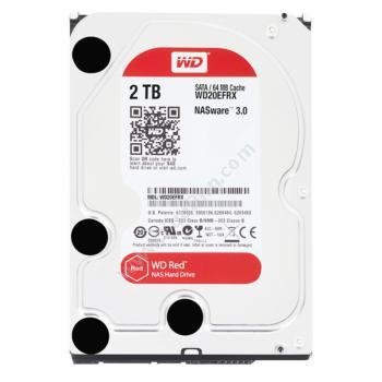 西部数据 WDWD20EFRX 红盘2TB SATA 6Gb/s 64MB NAS硬盘NAS网络存储