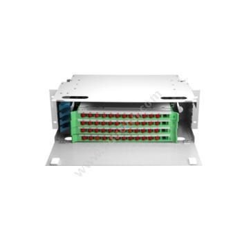汤湖 48芯ODF光纤配线架 FC万兆多模配满 (白) ODF48FC03 光纤配线架