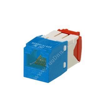 泛达 Panduit超五类模块 CJ5E88TGBU 卡接方式 90度和45度(蓝)超五类网线