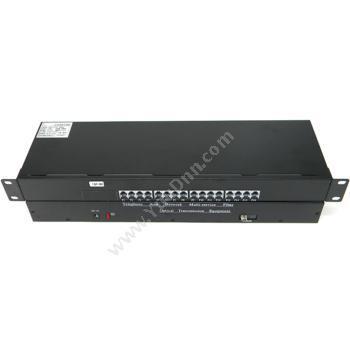 拓宾TUOBIN-T/R16P1ET 16路电话+1路网络 PCM语音光端机+网络 SC接口视频光端机