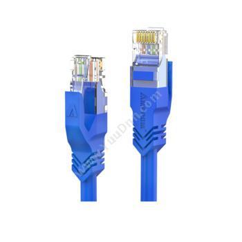 安普康 AmpCom六类非屏蔽无氧铜网络跳线 网络级(蓝) 3米 AMC6BU71830六类工程网络跳线