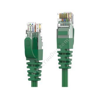 安普康 AmpCom六类非屏蔽跳线(绿) 5米AMCAT60850(GR)六类工程网络跳线