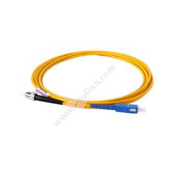 安普康 AmpComAMSMUPC9/125STSC3M 单模单芯ST-SC电信级光纤跳线3米(黄)单模光纤跳线