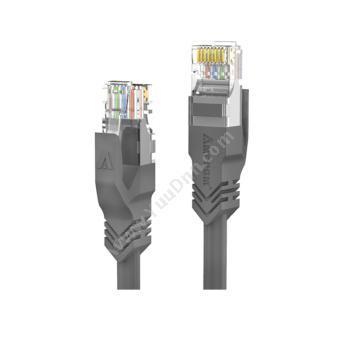 安普康 AmpCom六类非屏蔽无氧铜网络跳线 网络级 灰色 1米 AMC6GY71810六类工程网络跳线