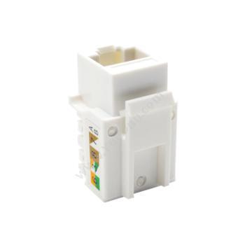 礼嘉LJ-5015D 超五类90度非屏蔽RJ45模块 (白)超五类网线